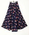 skirt Summer of 2019 Long, short Dark blue, blue rose, dark blueberry, ink painting longuette Sweet A-line skirt Decor 25-29 years old 51% (inclusive) - 70% (inclusive) hemp Print, pocket Countryside