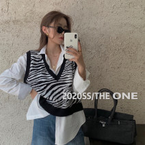 Fashion suit Autumn 2020 Average size White shirt, black vest, grey vest, coffee vest 18-25 years old Other / other