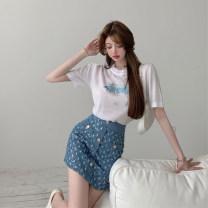 skirt Summer 2021 One size fits all, l, m, s Top, skirt Short skirt commute High waist A-line skirt 18-24 years old 51% (inclusive) - 70% (inclusive) Other / other other Korean version