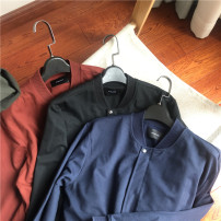 Sweater Youth fashion Others Navy Blue (no return or replacement for defect treatment), brown red (no return or replacement for defect treatment), black (no return or replacement for defect treatment) S,M,L,XL,2XL Solid color Cardigan Thin money Baseball collar Slim fit routine