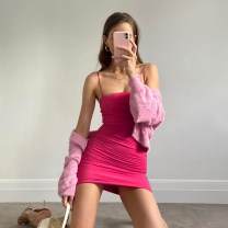 Dress Summer 2020 Black, picture S,M,L Short skirt singleton  street High waist camisole 18-24 years old Sisjuly D1737024 91% (inclusive) - 95% (inclusive) polyester fiber