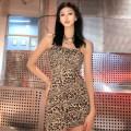 Dress Summer 2021 Leopard Print S,M,L Short skirt singleton  street High waist camisole 18-24 years old Sisjuly K21D00847 81% (inclusive) - 90% (inclusive) polyester fiber