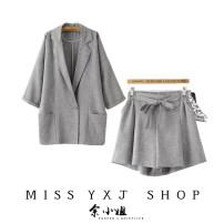 Fashion suit Spring 2020 S,M,L Grey, beige YXJ-20-20 51% (inclusive) - 70% (inclusive) polyester fiber