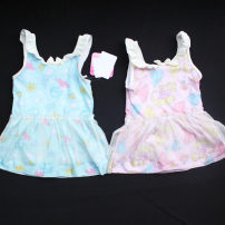 Children's swimsuit / pants other 90,100,110,120,130 Pink, sky blue Children's one piece swimsuit female polyester fiber