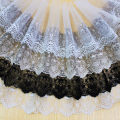 lace Refined white is 18cm wide and 91cm long, black is 18cm wide and 91cm long, light apricot is 18cm wide and 91cm long, refined white is 15cm wide and 91cm long, black is 23cm wide and 91cm long Chihiro Embroidery