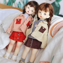 BJD doll zone suit 1/6 Over 14 years old goods in stock There are 3 points in beige coat + skirt + socks, 3 points in pink coat + skirt + socks, 4 points in rice coat + black and white T + skirt + socks, 4 points in pink coat + gray T + skirt + socks 6-point baby suit nothing