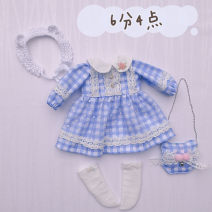 BJD doll zone suit 1/6 Over 14 years old goods in stock Blue 6-point suit 6 points dress + socks + headdress + small bag, 4 points in total nothing