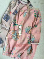 Dress Spring 2020 Pink flower, purple gray fan, black flower Average size