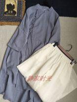 shirt Gray blue Average size hemp 96% and above