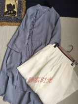 shirt Gray blue Average size hemp 96% and above