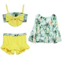 Children's swimsuit / pants E / wave Children's Bikini children's split swimsuit female polyester fiber Spring of 2018