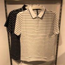 Sports T-shirt Guirenniao XS,S,M,L,XL,2XL,3XL,4XL,5XL Short sleeve male Lapel routine