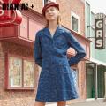 Women's large Spring 2020 Denim blue Large m large L Large XL Large XXL large XXXL large XXXXL large Dress singleton  commute Socket Simplicity W0126330021 Qian AI 25-29 years old Cotton 100%