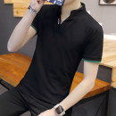 T-shirt fashion City Zuo Shi Shang conventional 3XL 378 black + 538 Navy ZSSFB9003 Cotton 95% Polyurethane Elastic Fiber (Spandex) 5% Summer of 2018 Pure electricity supplier (only online sales)