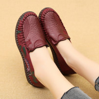 Low top shoes 35 36 37 38 39 40 Zhenyuanxiang Round head cloth Flat bottom Low heel (1-3cm) Shallow mouth cloth Autumn 2020 Trochanter leisure time Injection pressure shoes Middle age (40-60 years old) Color matching TPR (tendon) Single shoes Shallow flower cloth leisure time