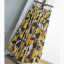 skirt Spring 2021 Average size Orange printing longuette commute High waist Umbrella skirt Abstract pattern Type A 71% (inclusive) - 80% (inclusive) cotton Pocket, print, fold, tuck literature