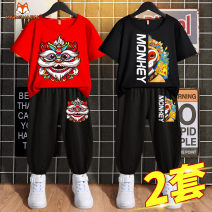T-shirt summer Chinese style There are models in the real shot nothing Cotton 100% MM2105121854-670391 Class B other Summer 2021 Hubei province Yichang City Mimi Mecca Pure cotton (100% cotton content) printing male Short sleeve Crew neck Chinese Mainland easy 110cm 120cm 130cm 140cm 150cm 160cm