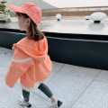 Plain coat EYAE KIDS female 90cm,100cm,110cm,120cm,130cm,140cm,150cm Orange spring and autumn leisure time Zipper shirt There are models in the real shooting routine No detachable cap other cotton Hood Y21119 Cotton 90% other 10% Class B