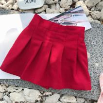 skirt 90cm,100cm,110cm,120cm,130cm,140cm gules EYAE KIDS female Cotton 95% other 5% summer skirt Korean version Solid color other cotton Q0221 Class B