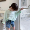 T-shirt Light green, white EYAE KIDS 90cm,100cm,110cm,120cm,130cm,140cm female spring and autumn Long sleeves Crew neck leisure time There are models in the real shooting nothing cotton other Cotton 95% other 5% T21104 Class B other Seven, eight, three, six, five, four Chinese Mainland Hangzhou