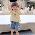 T-shirt white EYAE KIDS 90cm,100cm,110cm,120cm,130cm,140cm,150cm female summer Short sleeve Crew neck leisure time There are models in the real shooting nothing cotton other Cotton 95% other 5% T0237 Class B other Three, four, five, six, seven, eight, nine Chinese Mainland Zhejiang Province Hangzhou
