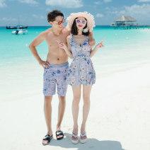 Couple swimsuit Ysswim / Yu langshu M,L,XL,XXL,XXXL,4XL Women's, men's pants Nylon, spandex, polyester, others currency