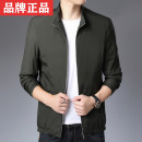 Jacket Bonin Fashion City Black, Navy, dark green 170/M,175/L,180/XL,185/XXL,190/3XL routine standard Other leisure spring LLT8315D Polyester 100% Long sleeves Wear out stand collar Business Casual middle age routine Zipper placket Rib hem No iron treatment Closing sleeve Solid color polyester fiber