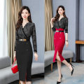 Dress Autumn 2020 Red, black M,L,XL,2XL Mid length dress singleton  Long sleeves commute V-neck middle-waisted Solid color zipper A-line skirt routine 30-34 years old Type H Other / other Korean version MJ2007 81% (inclusive) - 90% (inclusive) Cellulose acetate