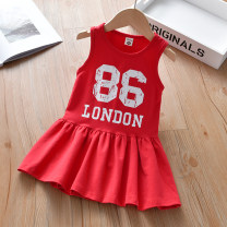 Dress female Thepigbaby 90cm.,100cm.,110cm.,120cm.,130cm. Cotton 90% other 10% summer Korean version Skirt / vest letter cotton Vest skirt x2186 Class B 18 months, 2 years old, 3 years old, 4 years old, 5 years old, 6 years old Chinese Mainland Guangdong Province Foshan City