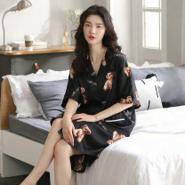 Nightdress Other / other 15052500325005250625007250225004, g00117 green, g00110 orange, g00110 black, 2500825009250112501225015 S (70-90 Jin), m (90-110 Jin), l (110-130 Jin), XL (130-150 Jin), XXL (150-180 Jin), XXXL (180-195 Jin), XXXXL (195-210 Jin) Sweet Short sleeve Leisure home Middle-skirt