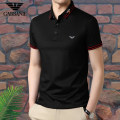 T-shirt Fashion City routine 165/M,170/L,175/XL,180/XXL,185/XXXL,190/XXXXL Chiamania Short sleeve Lapel standard daily summer middle age routine Business Casual other 2021 Solid color Button decoration cotton other washing More than 95%