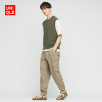 Casual pants UNIQLO / UNIQLO other 09 black 32 Dark Beige 56 olive 160/64A/XS 165/72A/S 170/80A/M 175/88A/L 180/96B/XL 185/104C/XXL 185/112C/XXXL 185/120C/XXXXL trousers Other leisure Straight cylinder UQ437683000 spring 2021 Cotton 98% polyurethane elastic fiber (spandex) 2% Spring 2021
