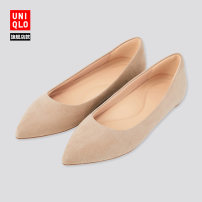 Low top shoes 35 36 37 38 39 40 41 42 UNIQLO / UNIQLO 07 Turquoise 09 black 31 Beige Sharp point polyester Flat bottom Flat heel (1cm or less) Shallow mouth No interior Autumn 2020 Youth (18-40 years old) Single shoes leisure time UQ427446000