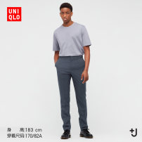 Casual pants UNIQLO / UNIQLO other 08 dark grey 09 black 160/70A 165/72A 165/76A 170/78A 170/82A 175/84A 175/88A 180/90B trousers Other leisure Straight cylinder UQ439674000 spring 2021 Wool 100% Spring 2021 Same model in shopping mall (sold online and offline)