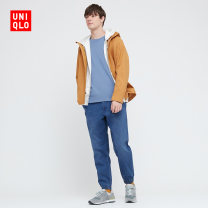Casual pants UNIQLO / UNIQLO other 66 blue 160/64A/XS 165/72A/S 170/80A/M 175/88A/L 180/96B/XL 185/104C/XXL 185/112C/XXXL 185/120C/XXXXL trousers Other leisure Straight cylinder spring Cotton 78% polyester 20% polyurethane elastic fiber (spandex) 2% Spring 2021
