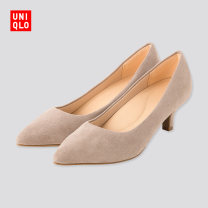 High shoes Mixed materials polyester Middle heel (3-5cm) Thick heel 09 black 31 Beige Sharp point 35 36 37 38 39 40 41 42 UNIQLO / UNIQLO Spring 2020 Youth (18-40 years old) UQ422355000 leisure time Same model in shopping mall (sold online and offline)