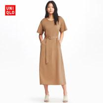 女装 T恤式连衣裙(短袖)(附腰带) 406990 优衣库UNIQLO