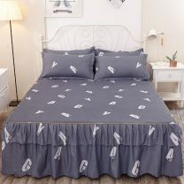 Bed skirt 1.2X2.0 1.5X2.0 1.8X2.0 1.8X2.2 2.0X2.2 1.0×2.0 polyester fiber Markyaboy Plants and flowers P70294
