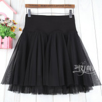 skirt Autumn 2020 M11 is for a waist of 1'9 to 2'1, L13 is for a waist of 2'2 to 2'4, XL15 is for a waist of 2'4 to 2'6 black Short skirt commute High waist Fluffy skirt Solid color Type A 51% (inclusive) - 70% (inclusive) other cotton Korean version