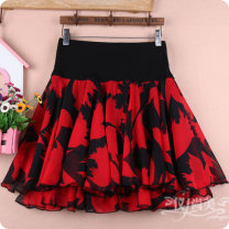 skirt Summer 2020 Short skirt Versatile Fluffy skirt Natural waist Broken flower 51% (inclusive) - 70% (inclusive) cotton Type A 927 Chiffon Pleats, threads, stitching, printing M11 is for a waist of 1'9 to 2'1, L13 is for a waist of 2'2 to 2'4, XL15 is for a waist of 2'4 to 2'6