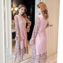 Dress Winter 2016 Pink, blue, orchid, pink M,L,XL,2XL Long sleeves commute Decor Socket Other / other other