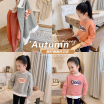 Sweater / sweater Amybaby Peach powder, sweet orange, grey temperament female 80cm, 90cm, 110cm, 120cm, 140cm, 150cm, 100cm (Baoer photo code), 130cm (Amy life code) spring and autumn nothing leisure time Socket routine There are models in the real shooting cotton other Cotton 100% other