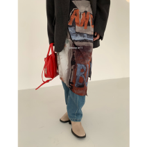 skirt Winter 2020 S,M,L Picture color Mid length dress commute High waist Irregular Decor 71% (inclusive) - 80% (inclusive) other other Korean version