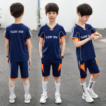 suit male summer motion Short sleeve + pants 2 pieces Thin money There are models in the real shooting Socket nothing other other children Giving presents at school Class B Summer of 2019
