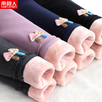 trousers NGGGN female 100cm 110cm 120cm 130cm 140cm winter trousers leisure time There are models in the real shooting Winter cotton trousers Leather belt middle-waisted Cotton blended fabric Don't open the crotch Cotton 95% polyurethane elastic fiber (spandex) 5% 38W266 38W266 Autumn of 2019