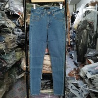 Jeans Autumn 2020 XS,S,M,L,XL,2XL,4XL,5XL trousers High waist Pencil pants routine 18-24 years old washing Cotton elastic denim light colour