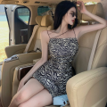 Dress Summer 2021 Picture color S,M,L Short skirt singleton  Sleeveless commute High waist other A-line skirt camisole 18-24 years old Type A Korean version Four point one
