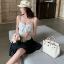 Fashion suit Summer 2021 S. M, l, average size White sling, black sling, black princess skirt 18-25 years old Four point four