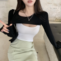 Fashion suit Summer 2021 S. M, average size Black suit coat, black against white coat, light green skirt 18-25 years old Four point seven 51% (inclusive) - 70% (inclusive) polyester fiber