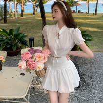 Fashion suit Summer 2021 S, M White jacket, white floral skirt 18-25 years old four point one zero 31% (inclusive) - 50% (inclusive)